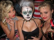 Miley Cyrus (Busty) , Aly Michalka & AJ Michalka at a Halloween party � Oct 30 [x1]