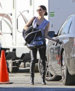 Люси Алексис Лью, фото 1108. Lucy Alexis Liu – Leaving Set of Southland – LA – 1/5/12, foto 1108