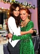 Cheryl Cole & Kimberley Walsh Backstage at the Theatre Royal in London 21st May x20